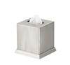 Pewter Veil boutique tissue box cover of durable brushed-stainless steel, #780-BS-1009