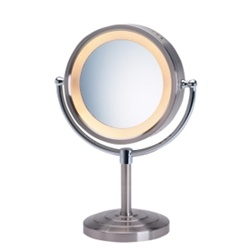 Jerdon First Class 5X Lighted Table Top Mirror, Chrome, No. 780-HL745NC