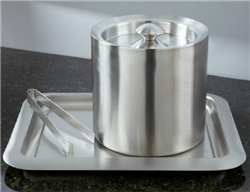Stainless steel ice bucket with double steel wall insulation, #780-IBDW3NH case of 6 pcs.