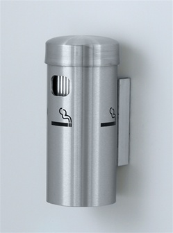 "Glaro deluxe series 8"" wall mounted smokers receptacle, No. 783-4400"