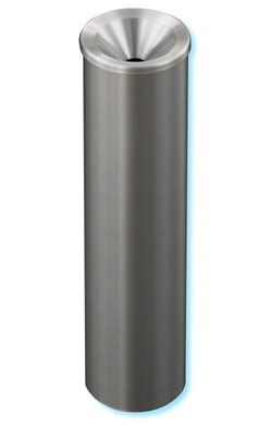 "Glaro ""New Yorker"" all satin aluminum funnel cover urn, #783-523SA"