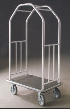 Glaro Glider 6400 satin aluminum premium bellman cart will last a lifetime, No.783-6400
