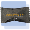 Courtyard peppermint soft candies in individual hot-stamped packaging