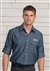 Custom Chambray Roll-Up Long Sleeve Shirt, 843-1298