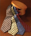 Honeycomb pattern check 100% polyester tie, No. 843-HC00
